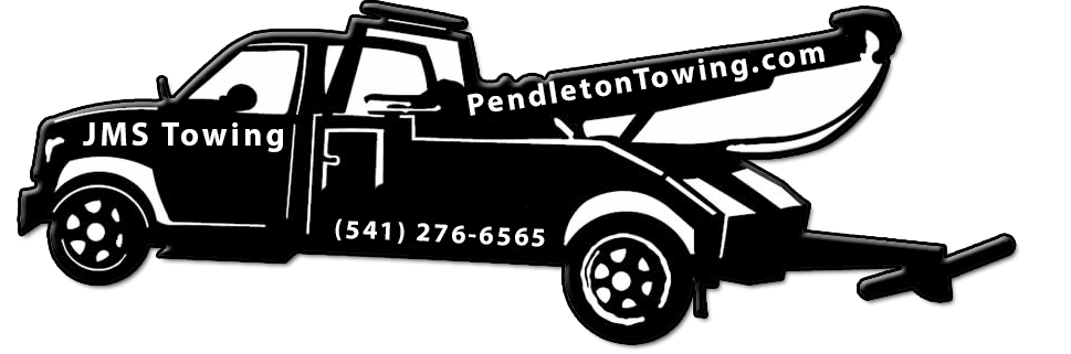 Clipart tow truck towing a car graphic black and white library Towing and Lock Out services for Pendleton Oregon -Pendleton Towing graphic black and white library