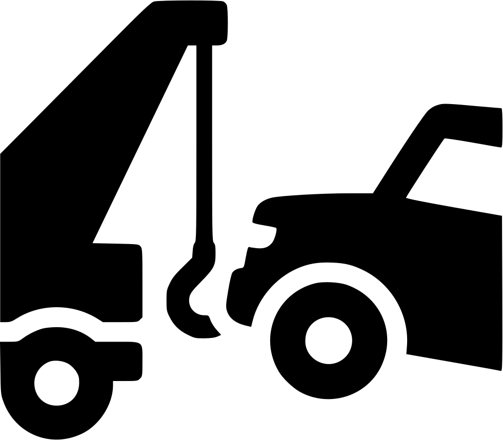 Clipart tow truck towing a car vector library stock STL Junk Cars vector library stock