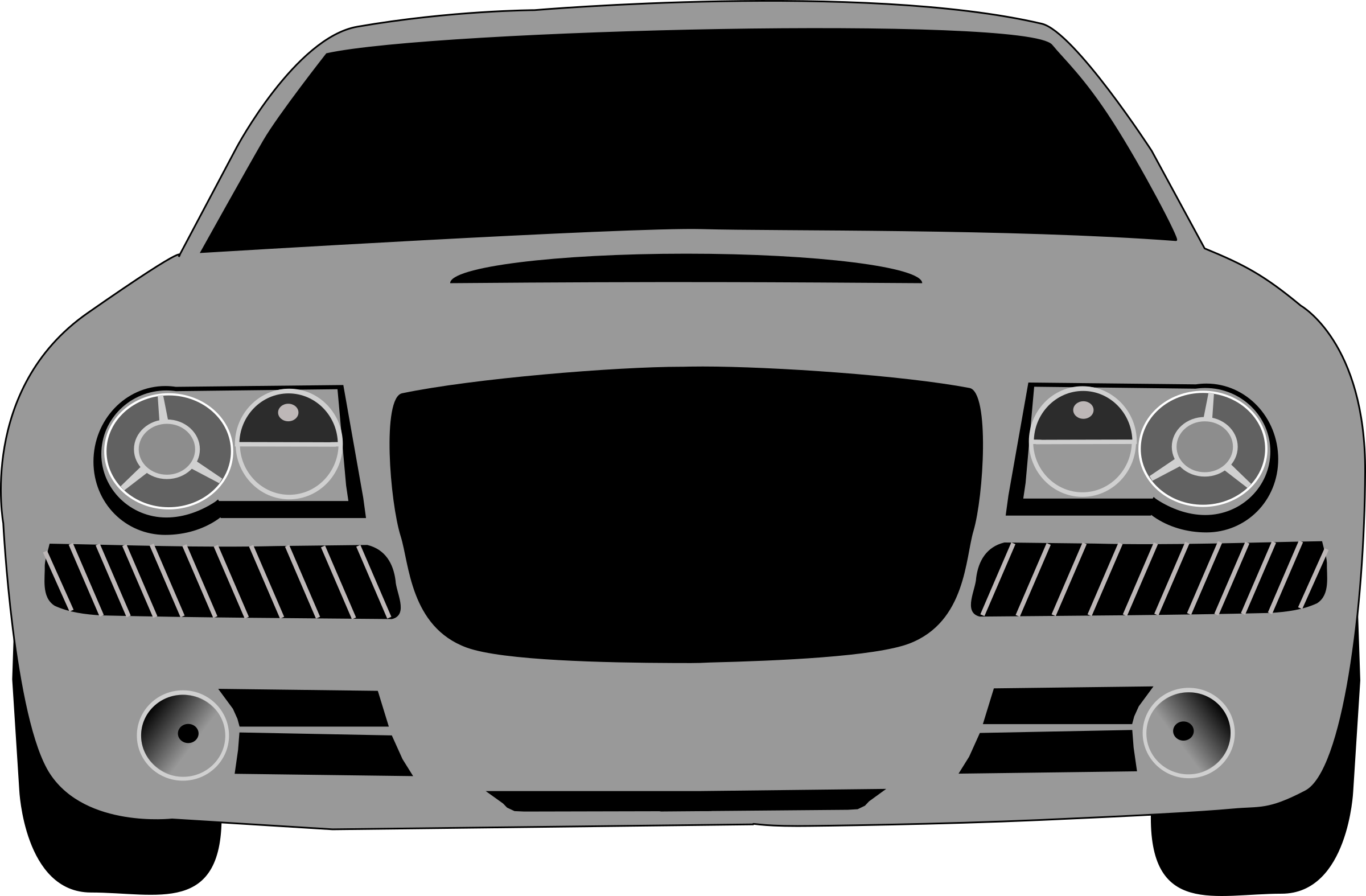 Car facing forward clipart free library Clipart - grey car free library
