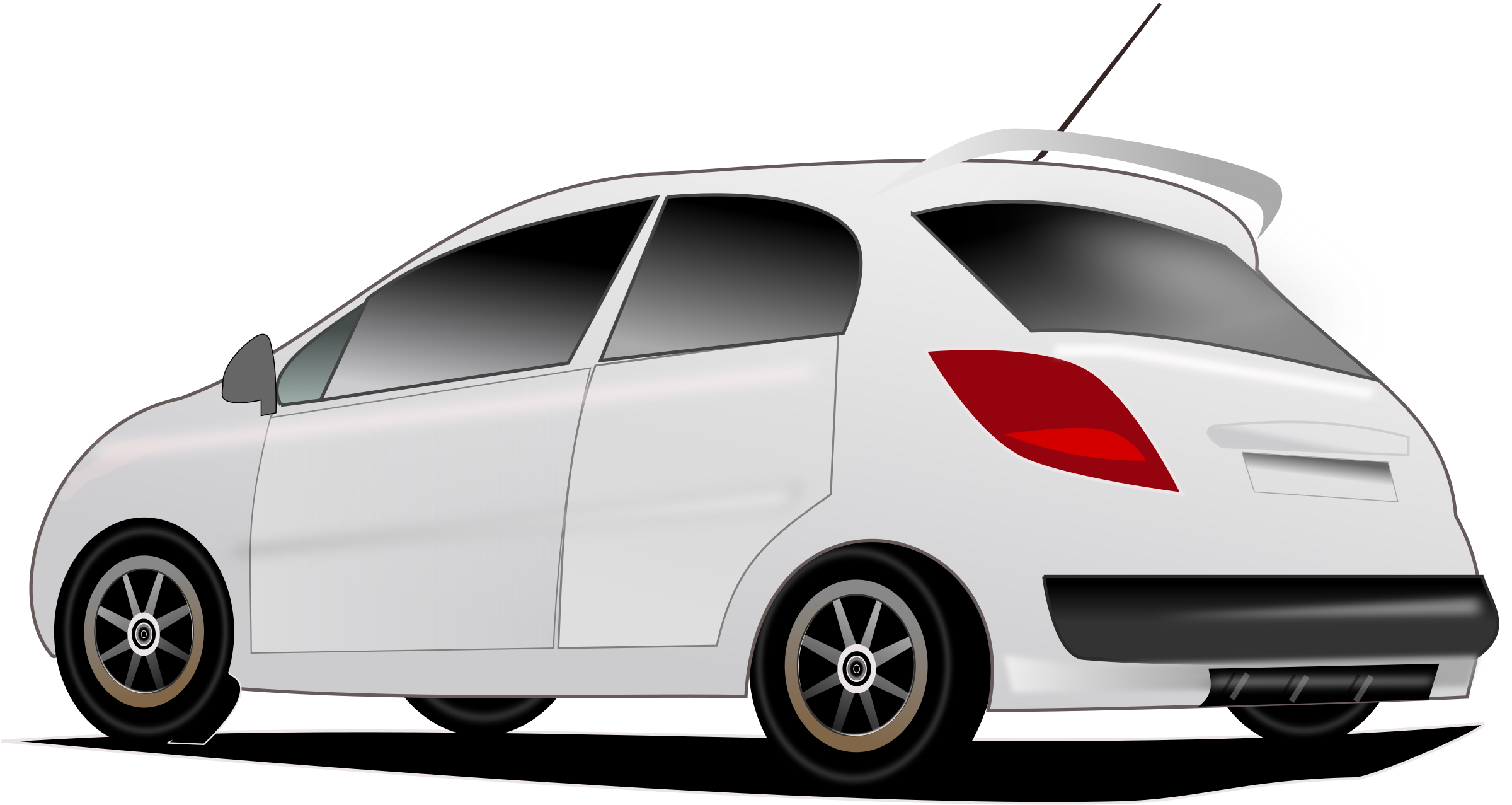 Car driving down road clipart vector stock Clipart - rally-car vector stock