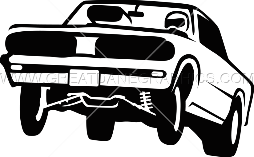 Muscle car clipart banner free Muscle Car Hop | Production Ready Artwork for T-Shirt Printing banner free