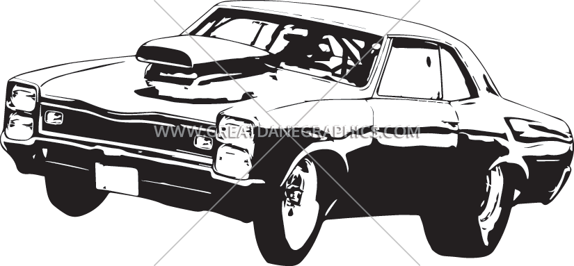 Car doing burnout clipart svg royalty free Muscle Car Go | Production Ready Artwork for T-Shirt Printing svg royalty free