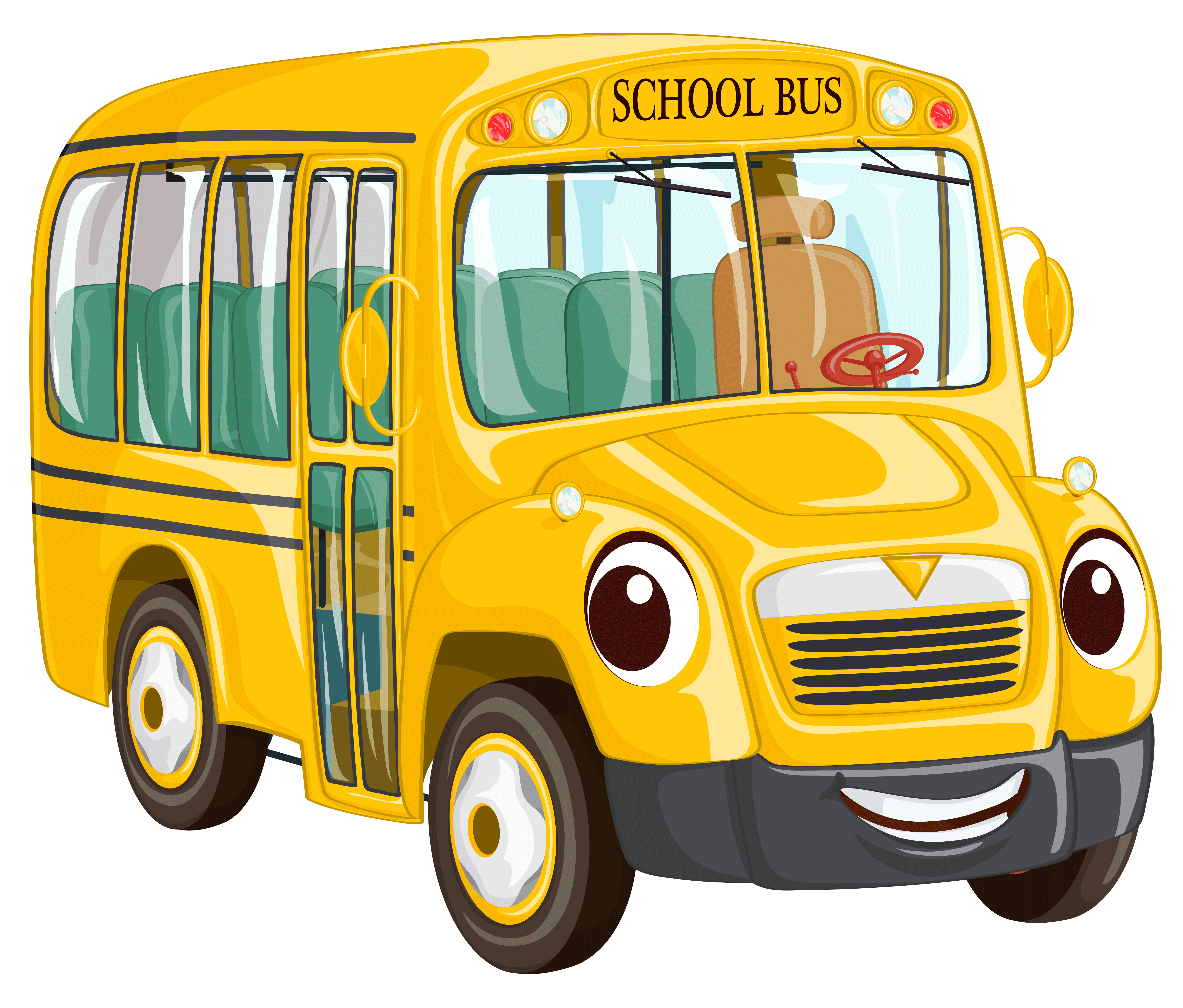 School bus clipart free image black and white library Cartoon Buses Group (64+) image black and white library