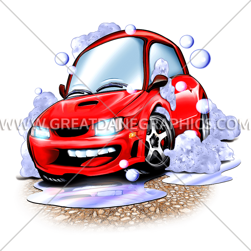 Car carrier clipart jpg black and white library Car Wash | Production Ready Artwork for T-Shirt Printing jpg black and white library