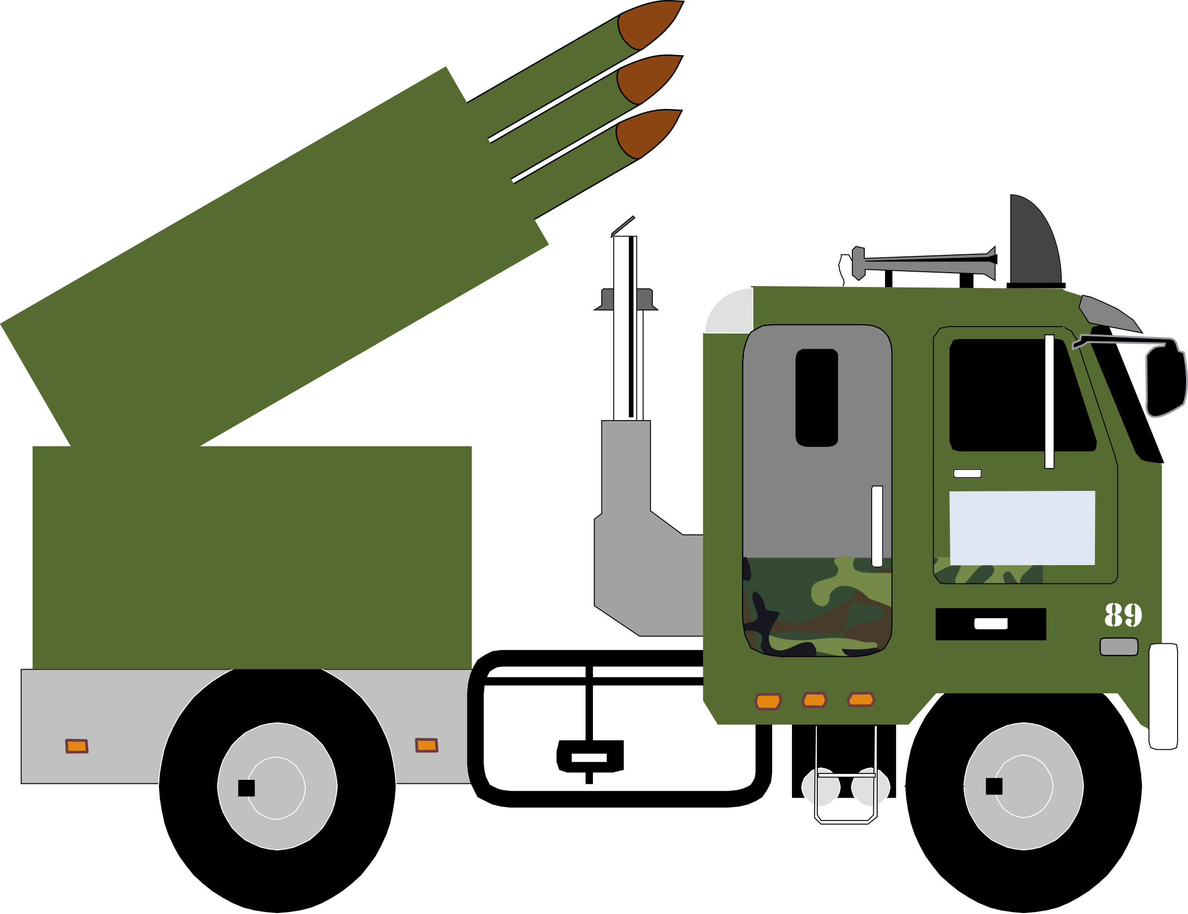 Car carrier truck clipart svg transparent stock Clipart - missile truck v4 svg transparent stock