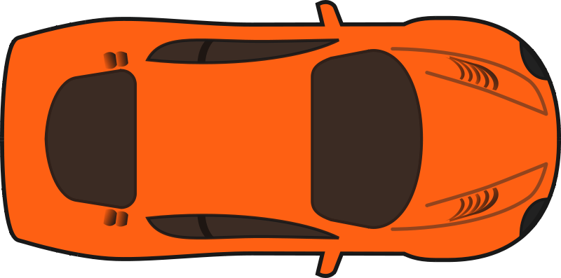Car clipart top image free library Image of Car Clipart Top View #8570, Orange Car Clipart Top View ... image free library