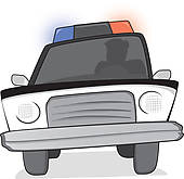 Clip art vector graphics. Car chase clipart