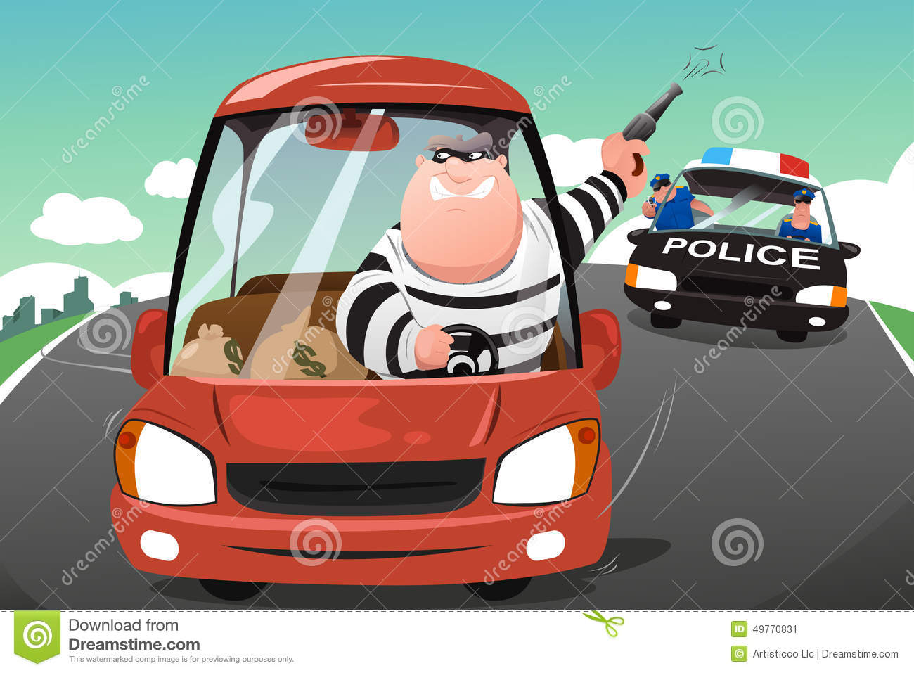 Car chase clipart vector free High speed car chase clipart - ClipartFest vector free