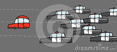 Car chase clipart. Police chasing stock illustrations