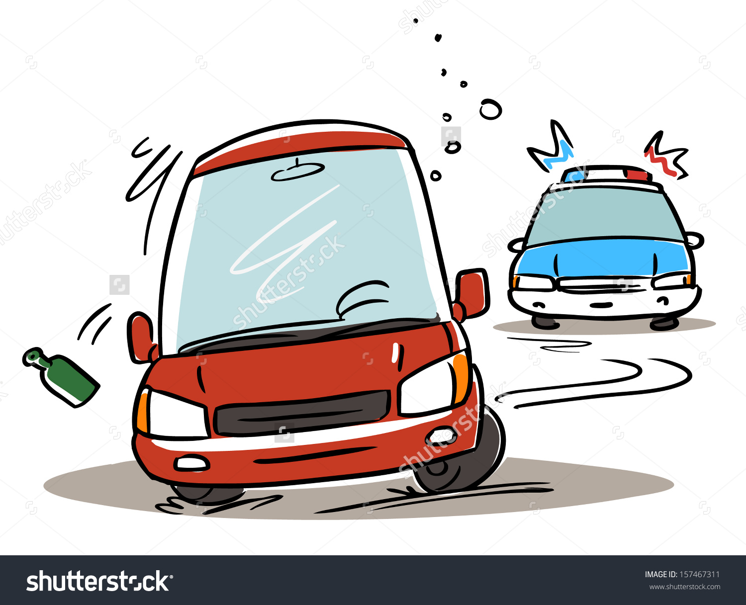 Car chase clipart police svg transparent library Police Chasing Drunk Driver Cartoon Illustration Stock Vector ... svg transparent library