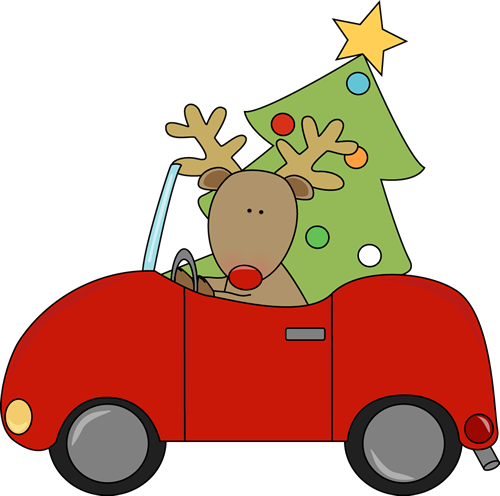 Car christmas clipart image freeuse library Car With Christmas Tree Clipart - Clip Art Library image freeuse library