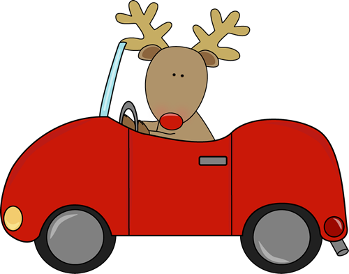 Car christmas clipart freeuse stock Reindeer Driving a Car Clip Art - Reindeer Driving a Car Image freeuse stock