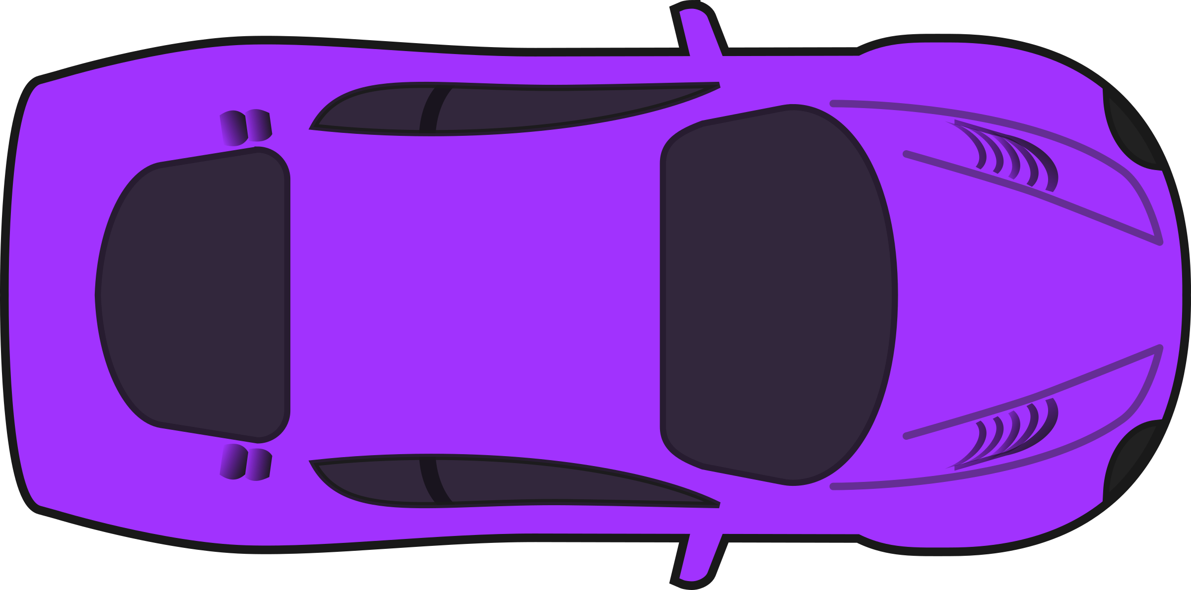 Car clipart top view png library Clipart - Purple Racing Car (Top View) library