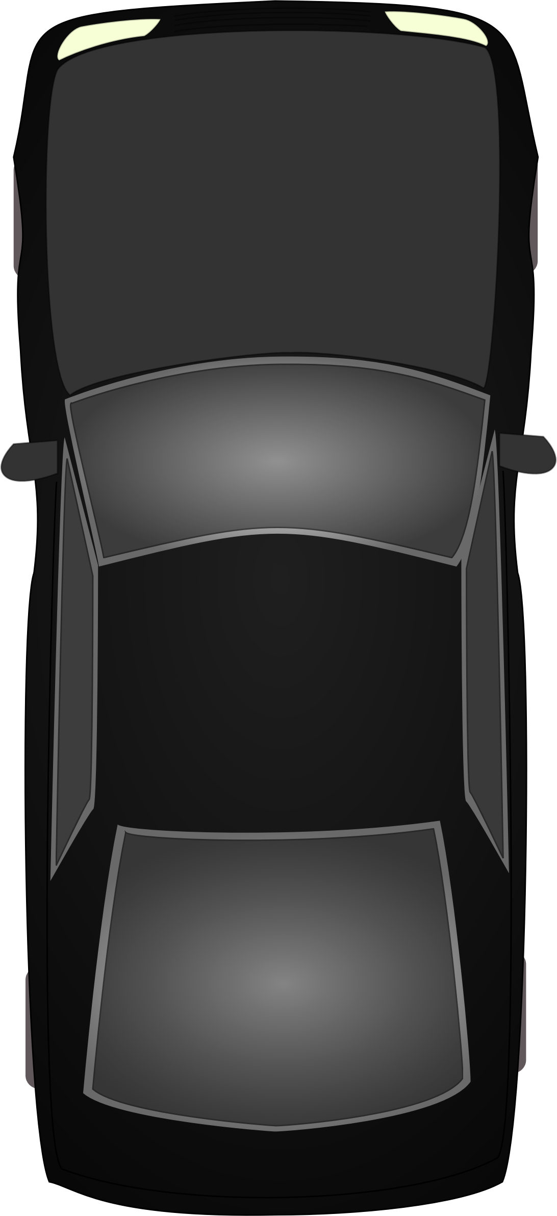 Clipart car seat clip black and white Clipart - Black car topview clip black and white