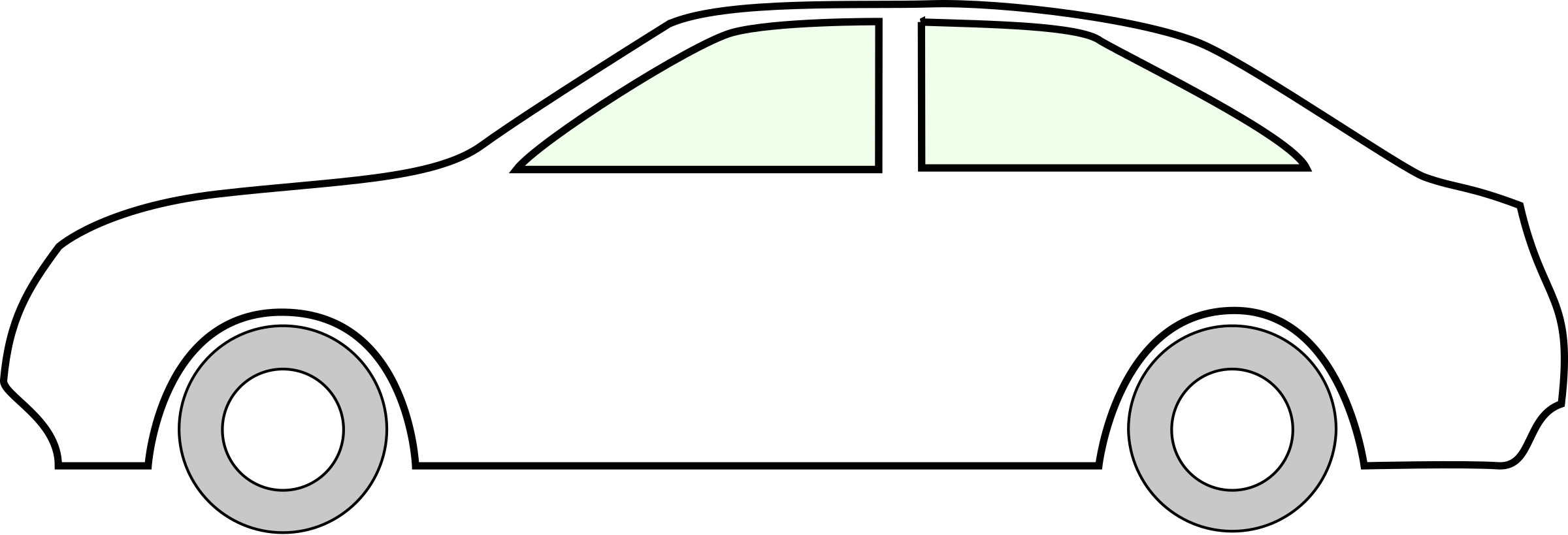 Side of a car clipart image black and white download Outline Of A Car (53+) image black and white download