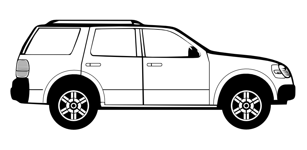 Car label clipart clipart black and white stock 28+ Collection of Car Side View Clipart | High quality, free ... clipart black and white stock