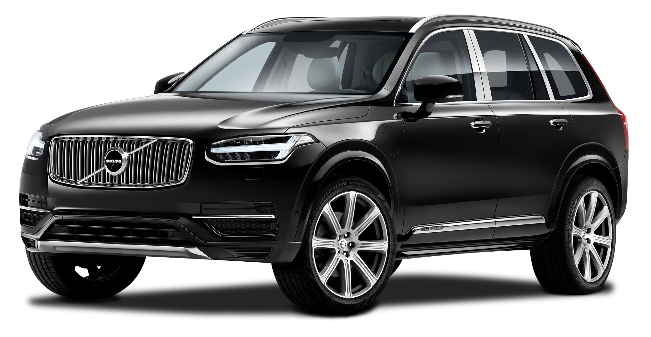 Car clipart black background image black and white stock Black Volvo XC90 Excellence Car PNG Image - PurePNG   Free ... image black and white stock