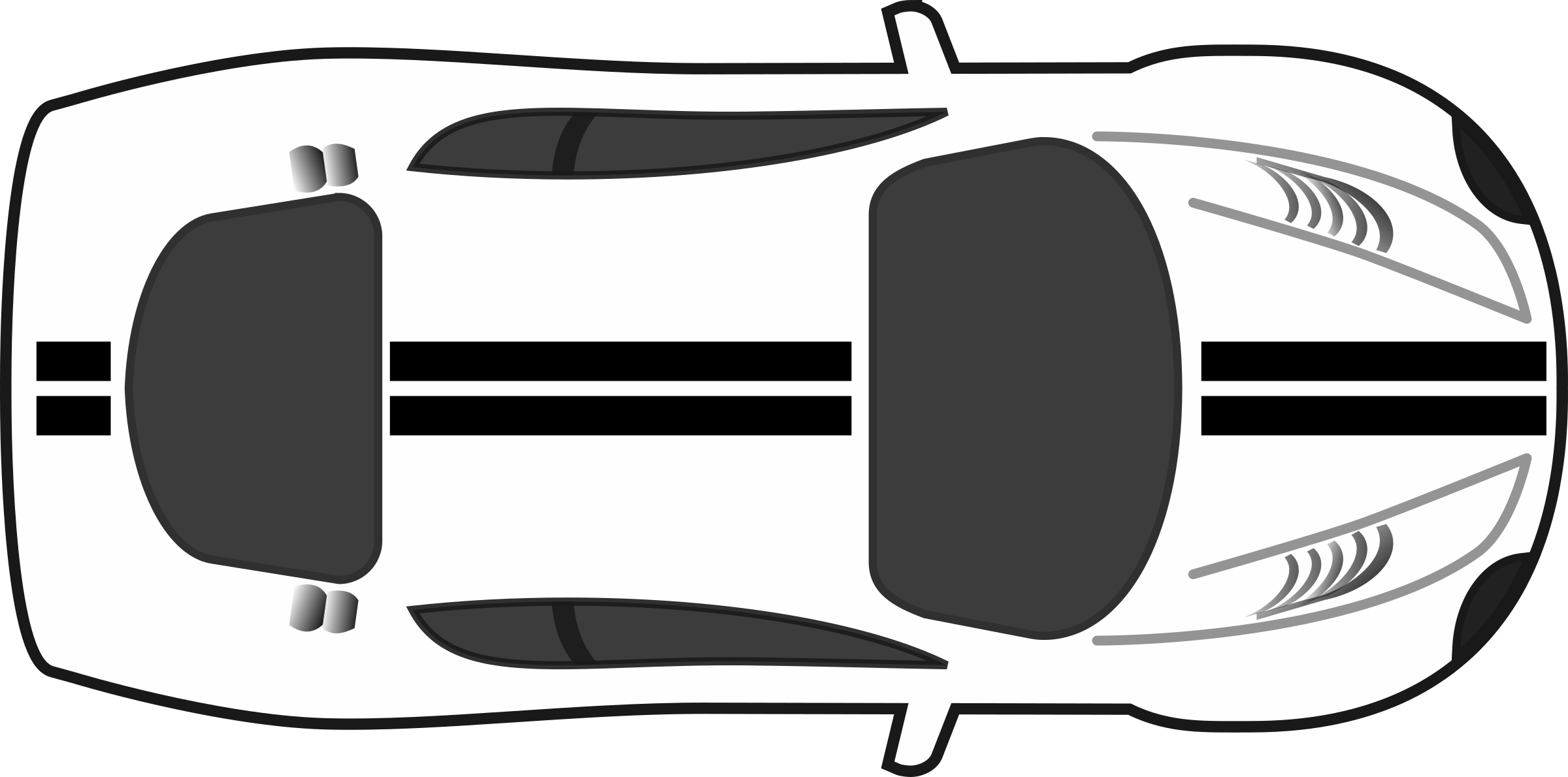 Sports car black and white clipart banner free library Black And White Race Car PNG Transparent Black And White Race Car ... banner free library