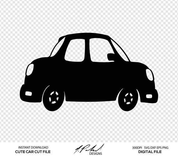 Car clipart file png free download Cute Car Cut File - Digital Files - Car SVG - Car DXF - Car PNG ... png free download