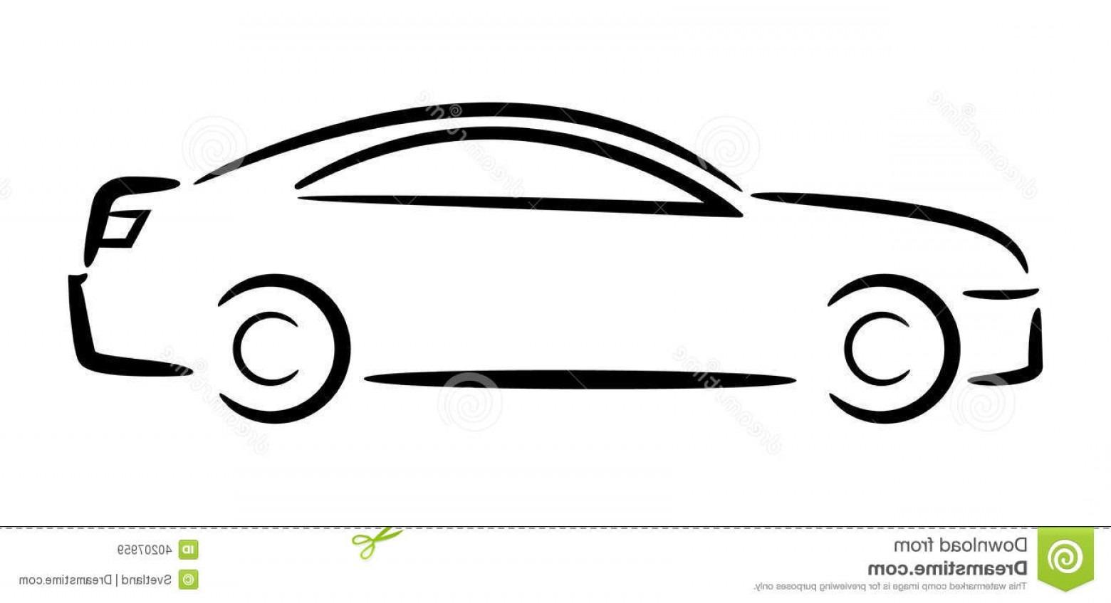Car clipart file jpg black and white download Automobile Outline Clip Art Car Outline Side View Download Royalty ... jpg black and white download
