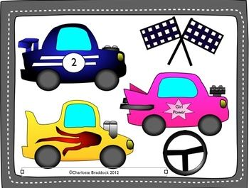 Car clipart for commercial use vector transparent Free Race Car Clipart for Personal or Commercial Use - Charlotte's ... vector transparent