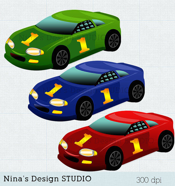 Car clipart for commercial use picture free download INSTANT DOWNLOAD Racing cars Clipart Cars clipart scrapbook ... picture free download