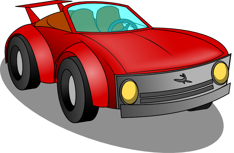 Car with smoke clipart svg free Sports Car Clipart - Clipart Kid svg free