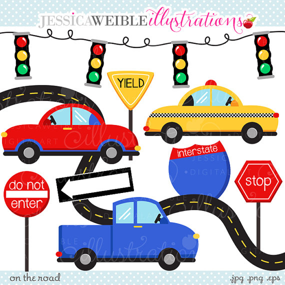 Car clipart for commercial use picture transparent stock On The Road Cute Digital Clipart - Commercial Use OK - Car Clipart ... picture transparent stock