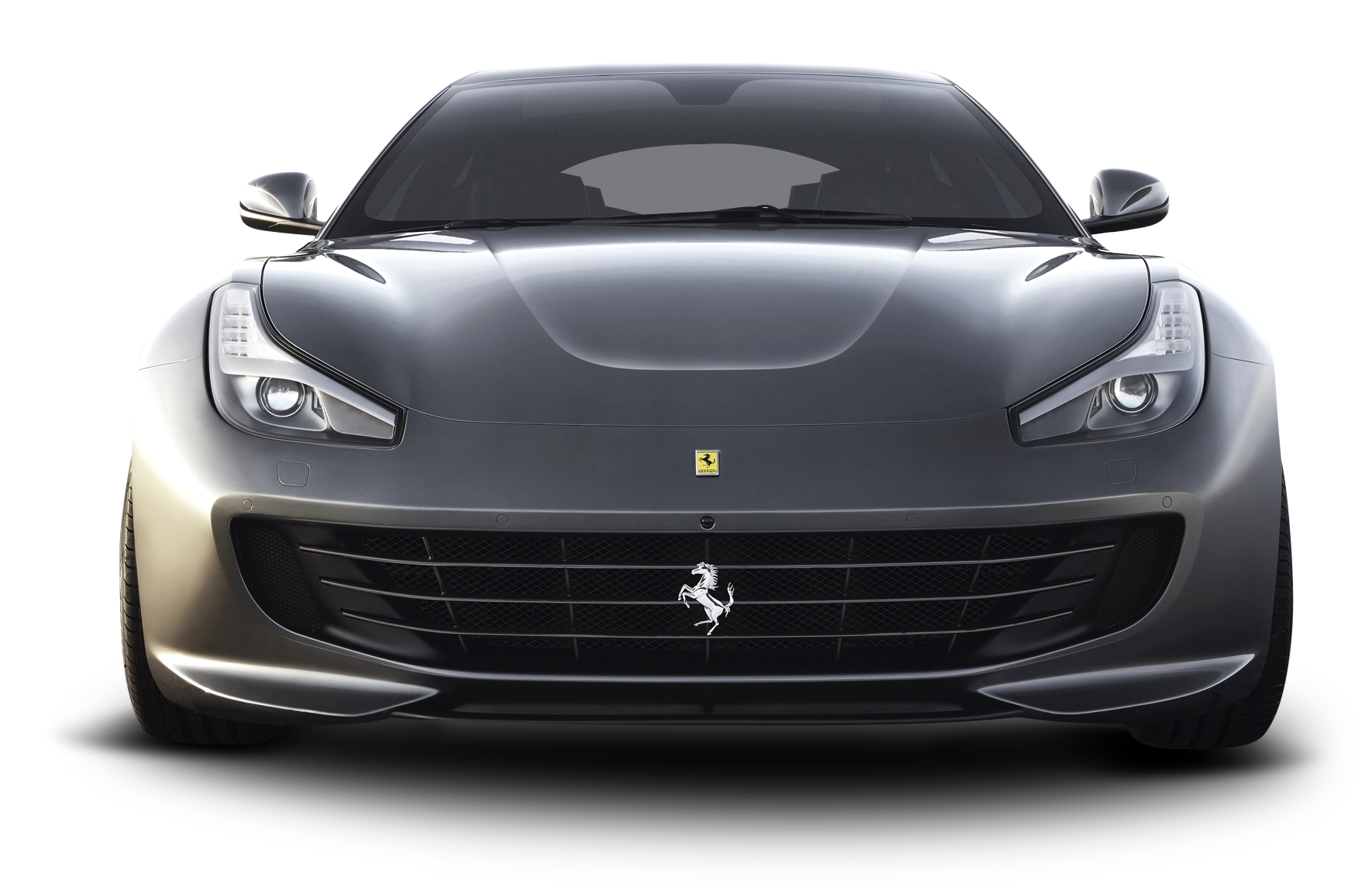 Car clipart front image free Ferrari GTC4 Lusso Front Gray Car PNG Image - PurePNG | Free ... image free