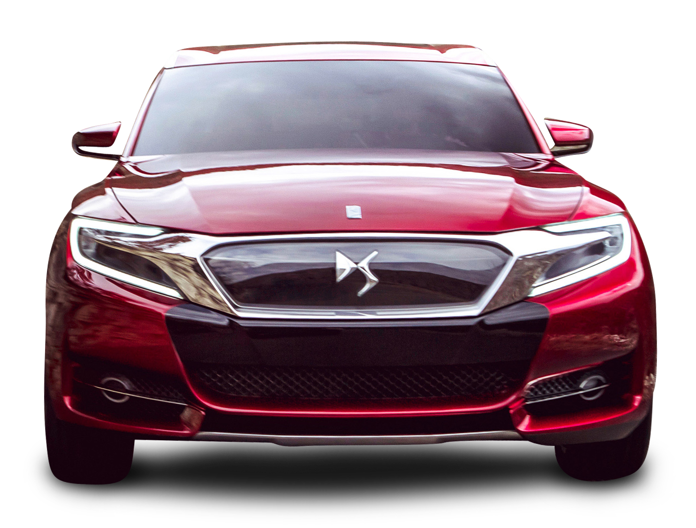 Car clipart front view png free library Red Citroen DS Wild Rubis Front View Car PNG Image - PurePNG | Free ... png free library