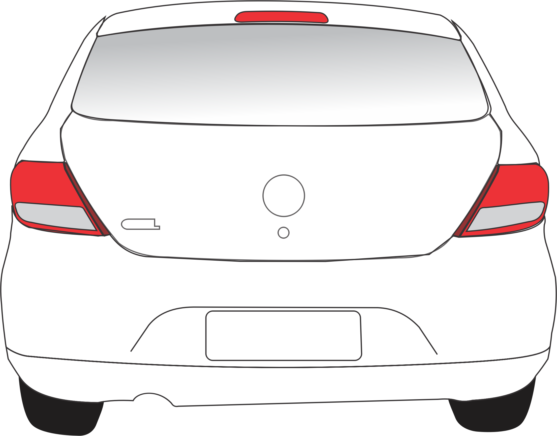 Car clipart front view free stock Car Back View Icons PNG - Free PNG and Icons Downloads free stock