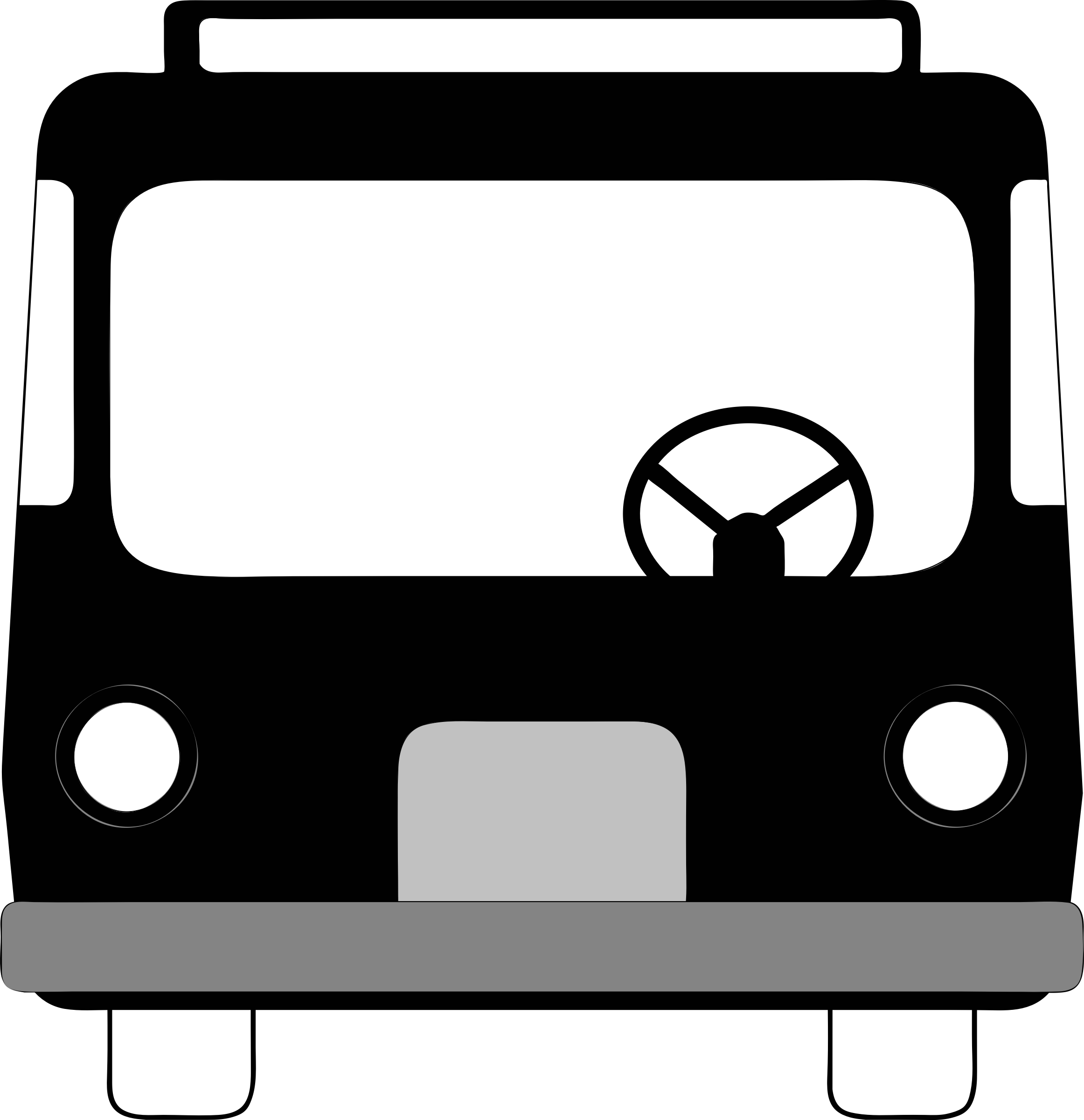 Car clipart front view clip stock Clipart - bus front view clip stock