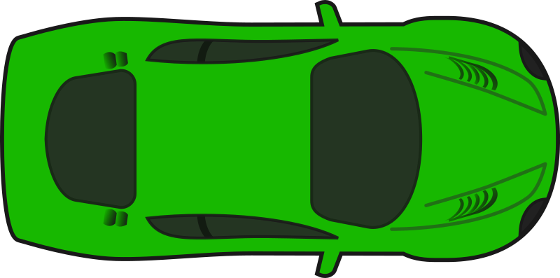 Car clipart green png freeuse Clipart - Green Racing Car (Top View) png freeuse
