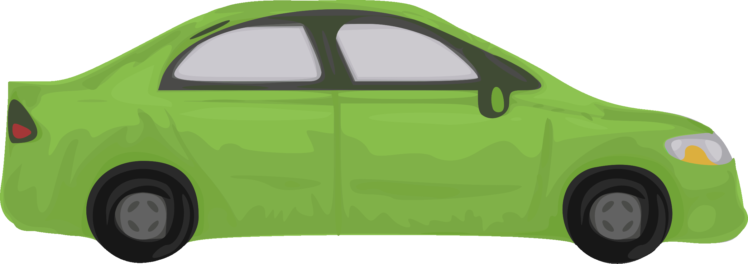 Car clipart green png black and white stock Clipart - Rough car (green) png black and white stock