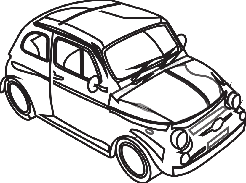 Kid in car clipart vector black and white library Car black and white clipart high resolution - ClipartFox vector black and white library