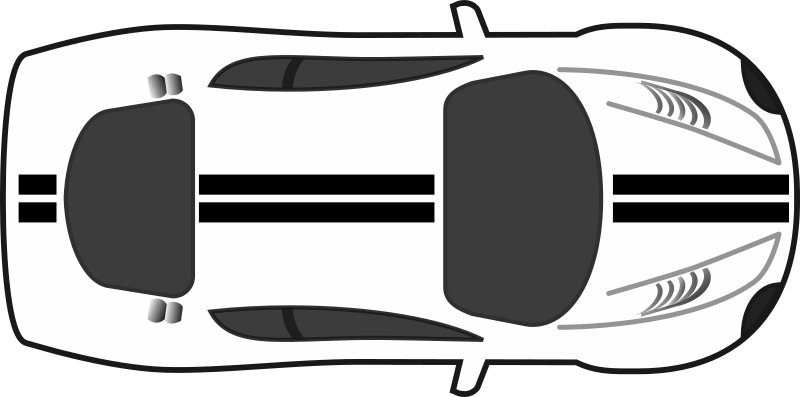 Car clipart top view image free Car clipart topdown image free