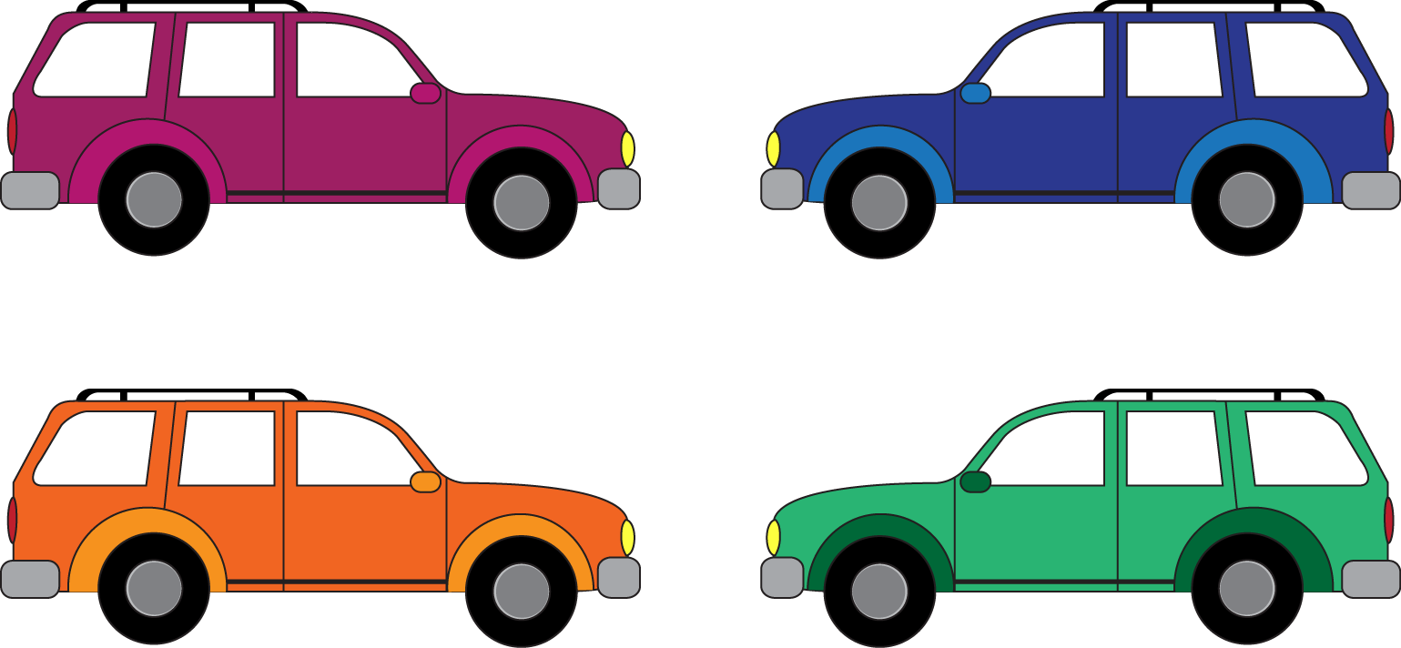 Cute car clipart. Crossover suv outline