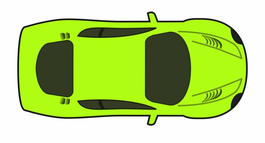 Car clipart plan view png freeuse library Bright Green Racing Car Clipart By Qubodup - Cars Clipart Top View ... png freeuse library