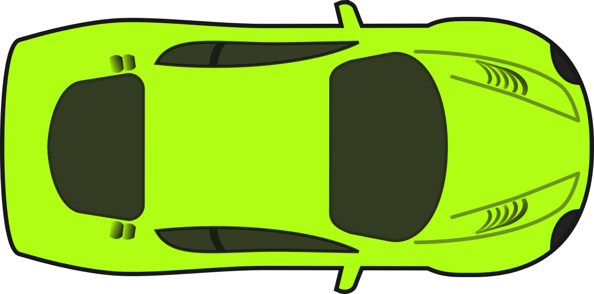 Car clipart plan vector black and white HD Bright Green Racing Car Clipart By Qubodup - Cars Clipart Top ... vector black and white