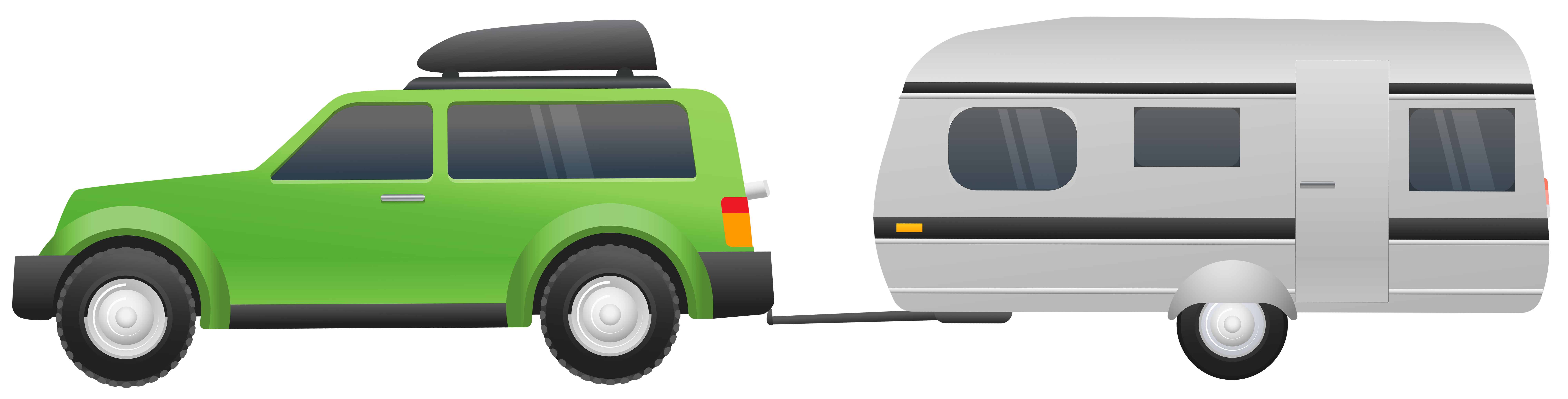 Free clipart images car png free download Car with Caravan Clip Art PNG Image | Gallery Yopriceville - High ... png free download
