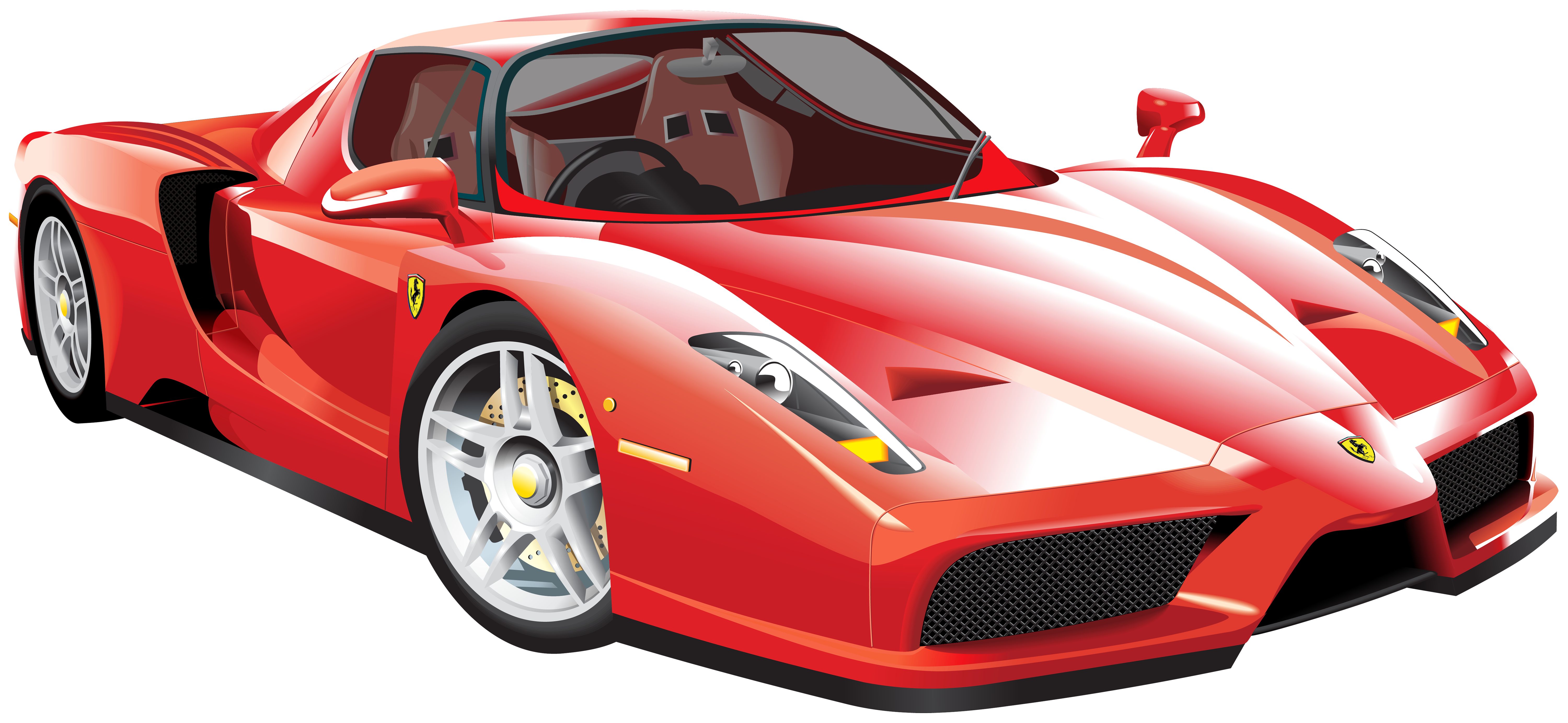 Red car clipart png vector royalty free stock Red Ferrari Car PNG Clip Art - Best WEB Clipart vector royalty free stock