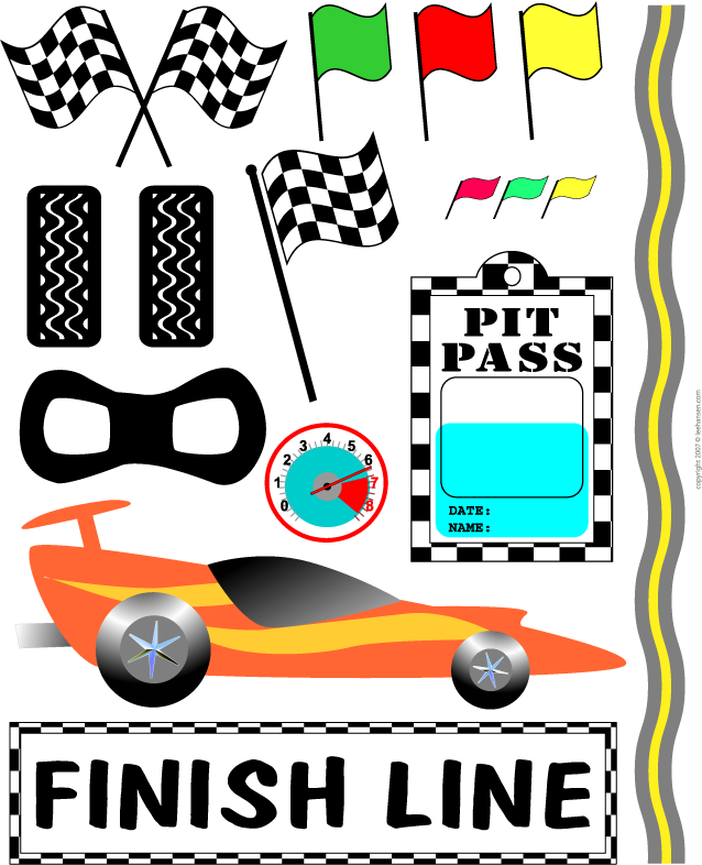Car clipart race banner transparent download Race car clipart for E's birthday -- Could use some of these for ... banner transparent download
