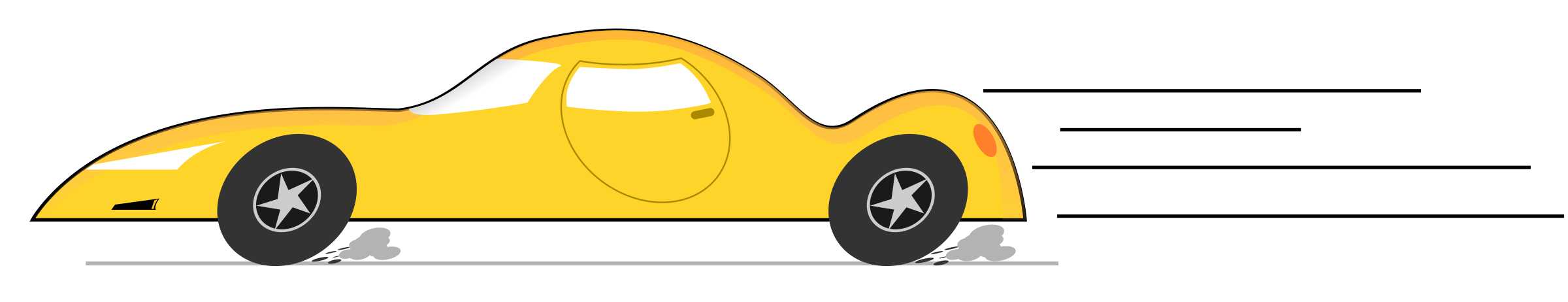 Car side view clipart image royalty free stock Clipart - Cartoon Car side view yellow image royalty free stock