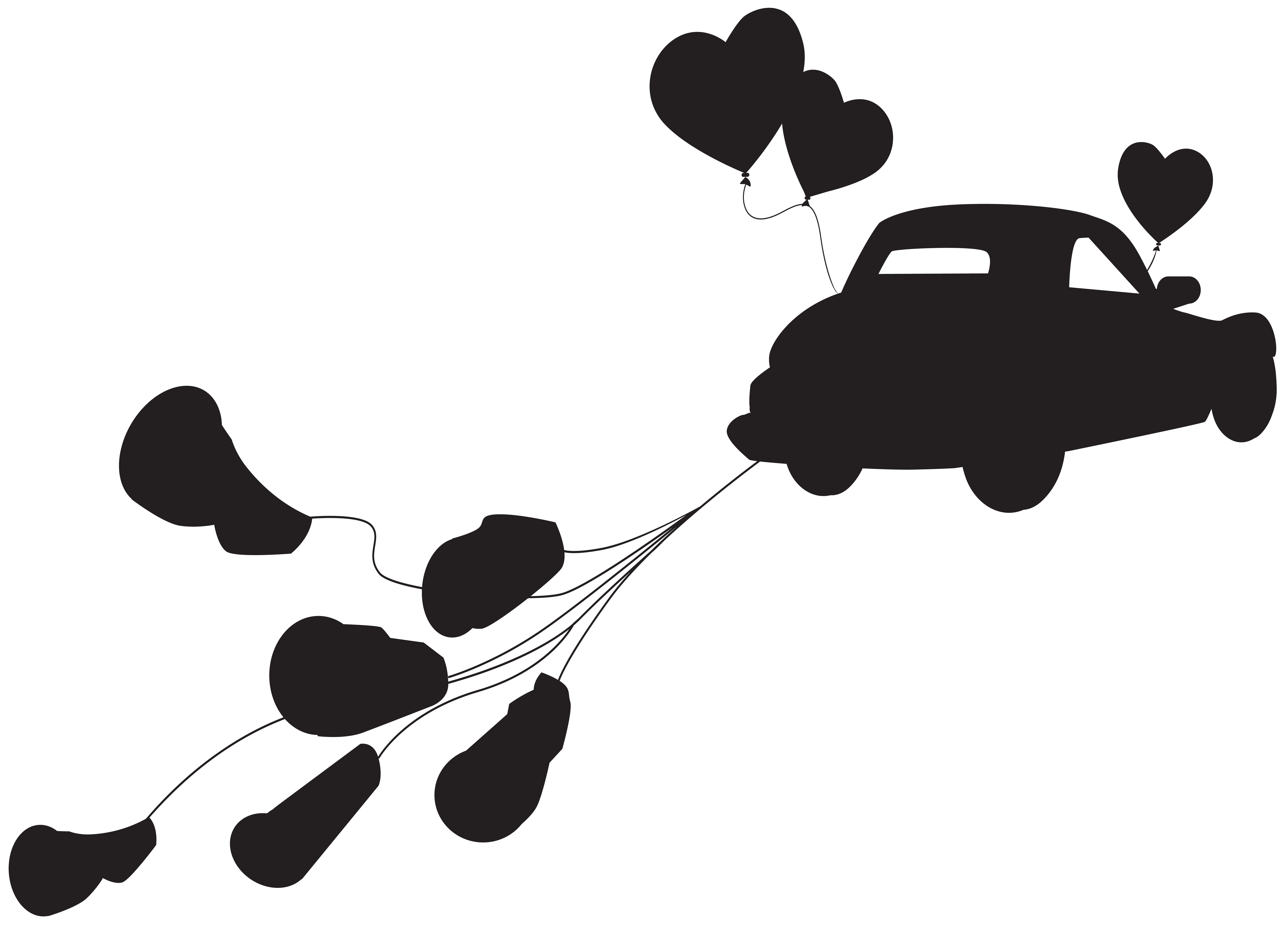 Car clipart silhouette svg free download Wedding Car just Married Silhouette PNG Clip Art | Gallery ... svg free download