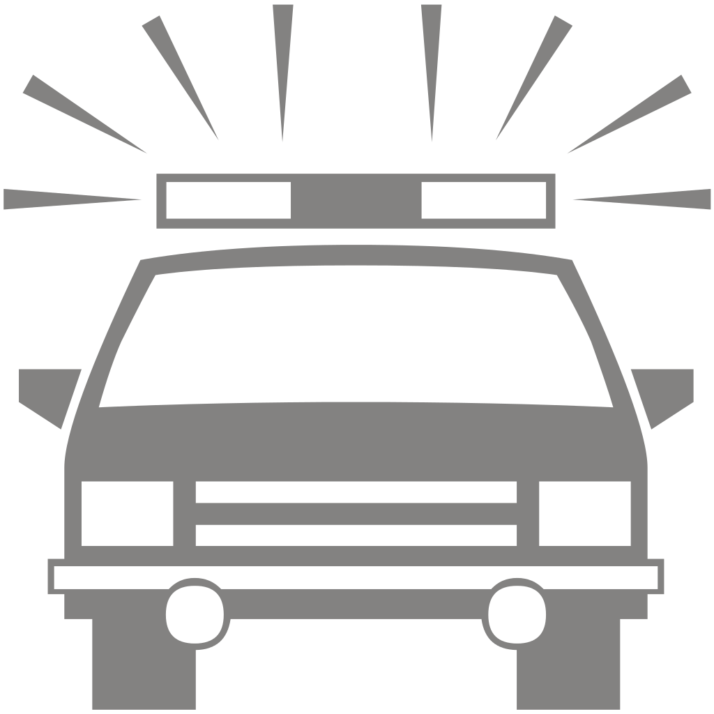 Car clipart silhouette graphic royalty free library File:Police Car Silhouette.svg - Wikimedia Commons graphic royalty free library