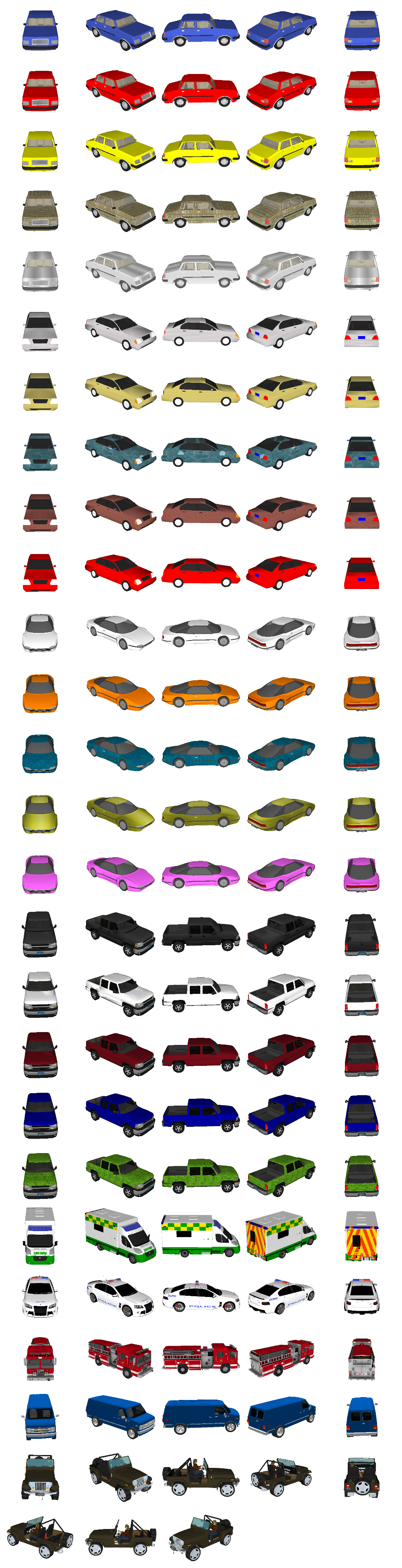 Car clipart sprite sheet png free stock Car Sprite Sheet by lostchild14000 on DeviantArt png free stock