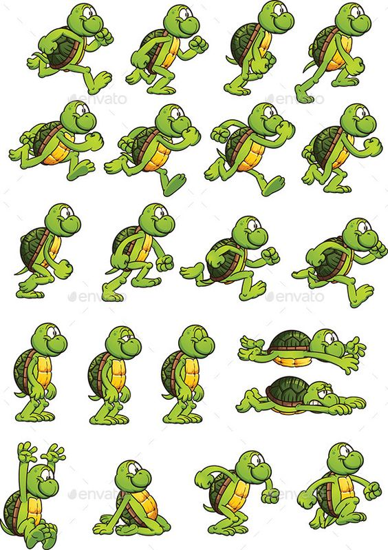Car clipart sprite sheet banner stock Turtle Sprites (Sprites) | Turtles and Sprites banner stock