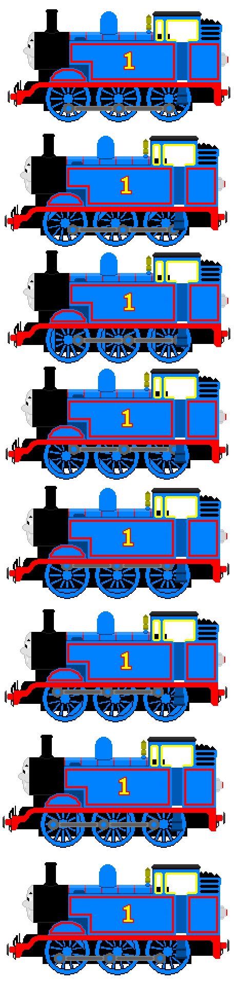 Car clipart sprite sheet clip art royalty free stock Thomas the Tank Engine (Full Sprite Sheet) by JamesFan1991 on ... clip art royalty free stock