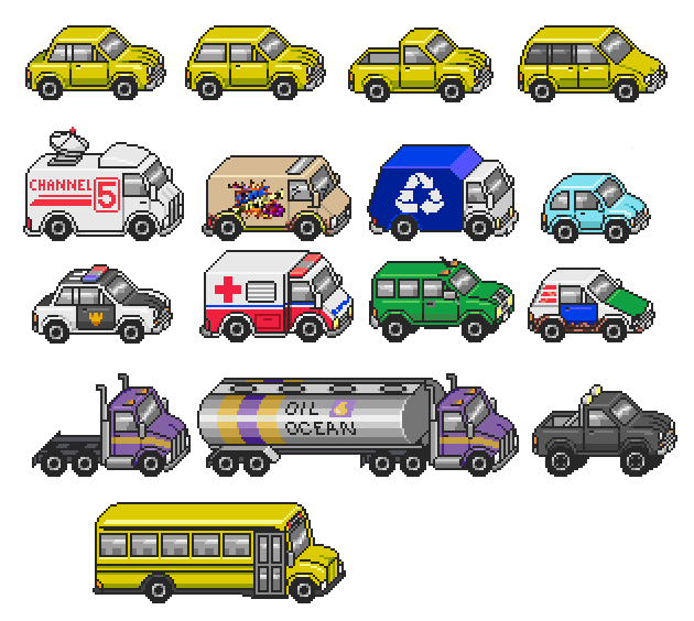 Car clipart sprite sheet clipart transparent stock Starmen.net's Sprite Thread « Fan Forum « Forum « Starmen.Net clipart transparent stock