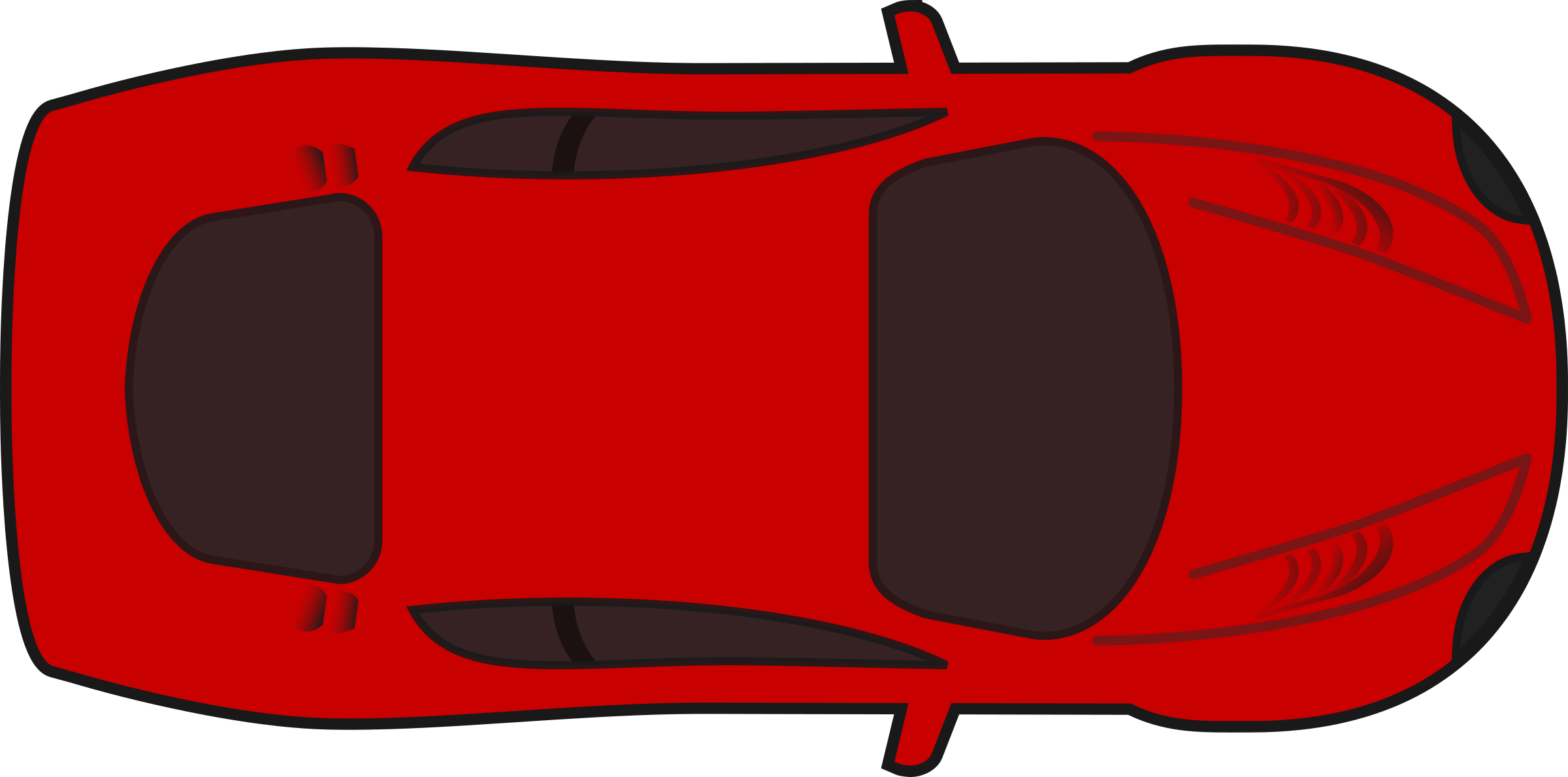 Racing car clipart picture transparent download Clipart - Red racing car top view picture transparent download